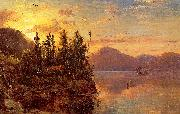 Regis-Francois Gignoux  Lake George at Sunset 1862 oil